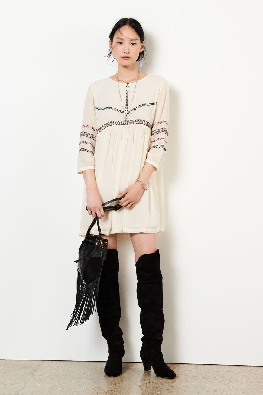 DRESS COLOMBE MINI DRESSES ECRU BA&SH