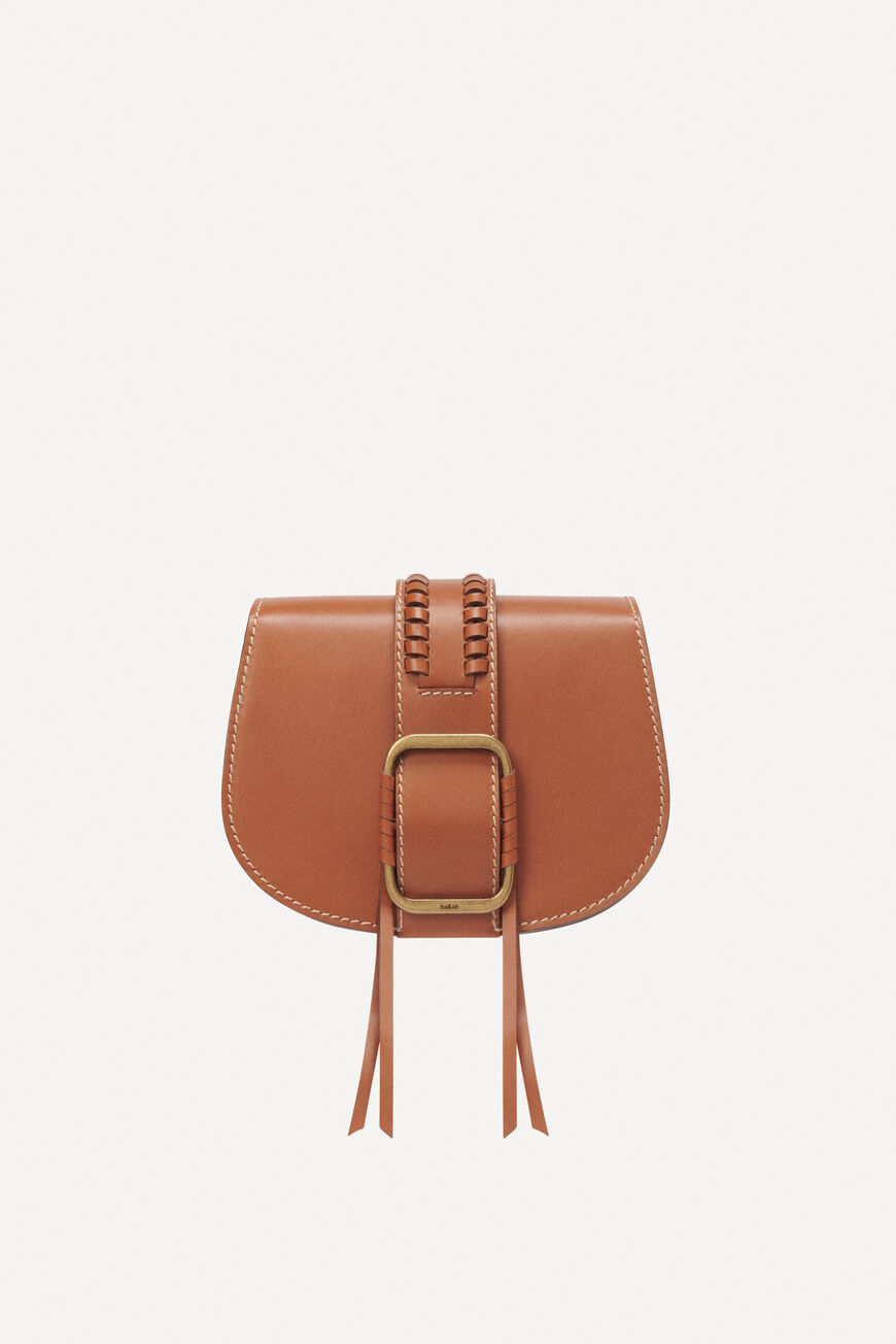 TEDDY S LEATHER BAG CROSSBODY BAGS TAN