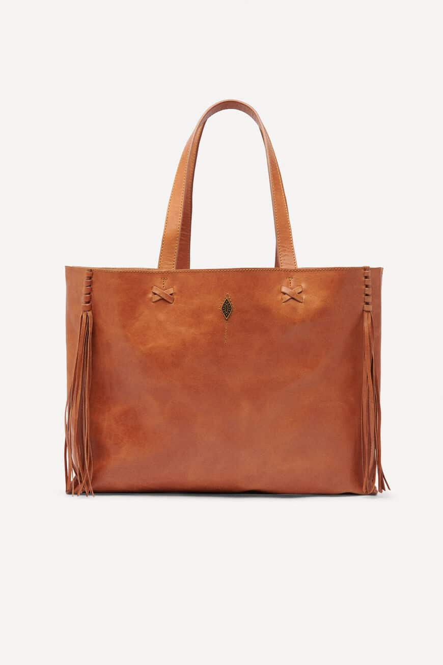 LEATHER TOTEBAG TOTE BAGS COGNAC