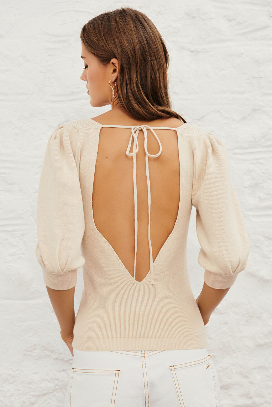 PULLI SAVANNAH OPEN BACK CREME