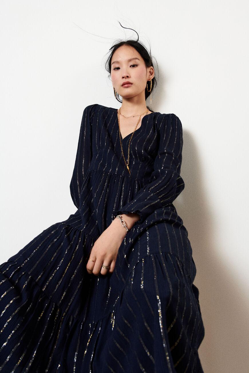DRESS PIVOINE MIDI DRESSES MARINE BA&SH