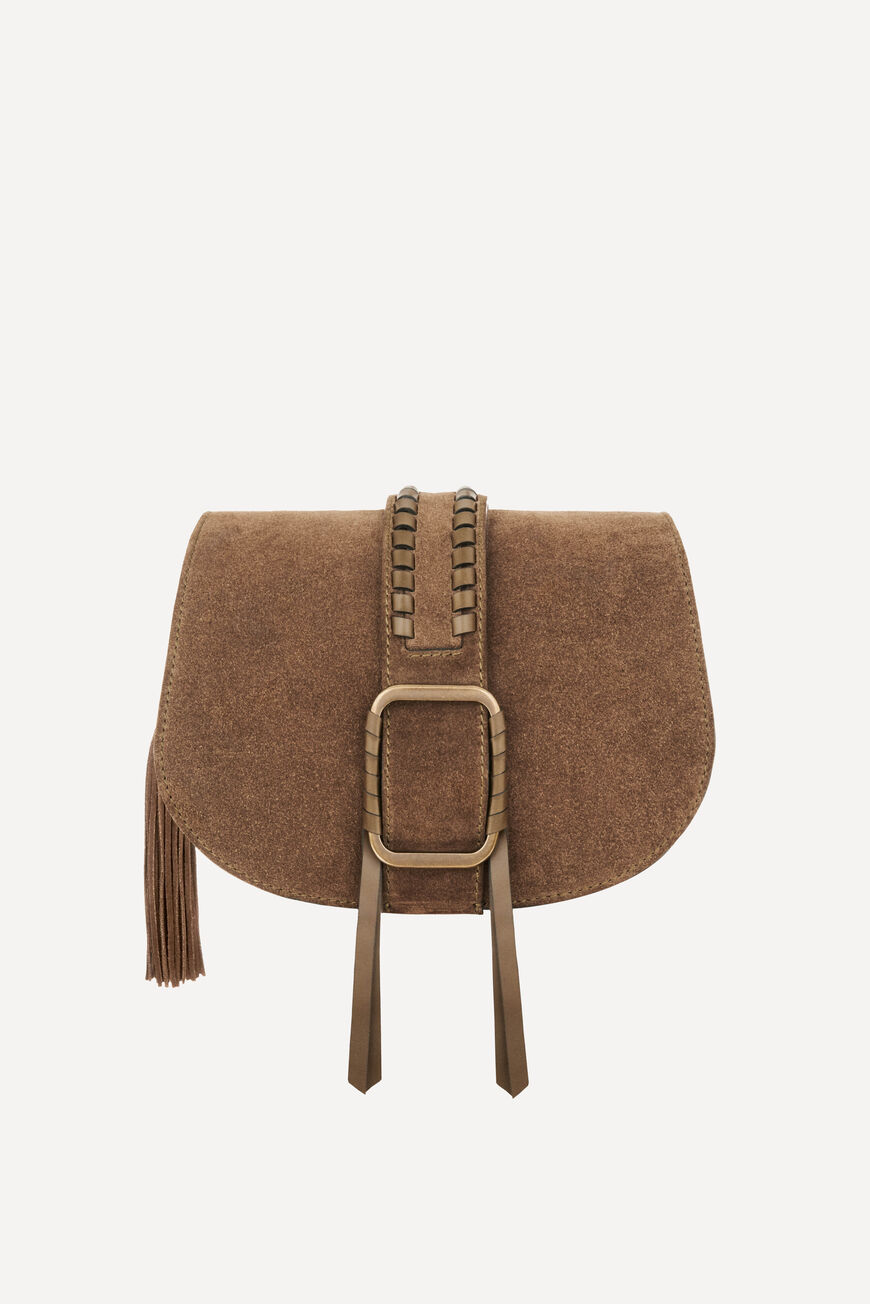 TEDDY M SUEDE BAG TEDDY BAGS KAKI