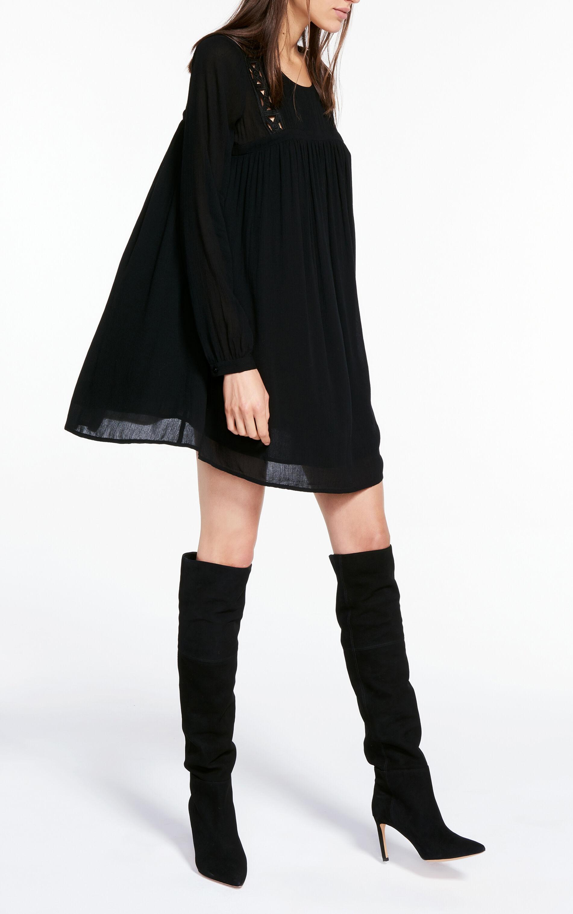 Robe kaki et noir h&m