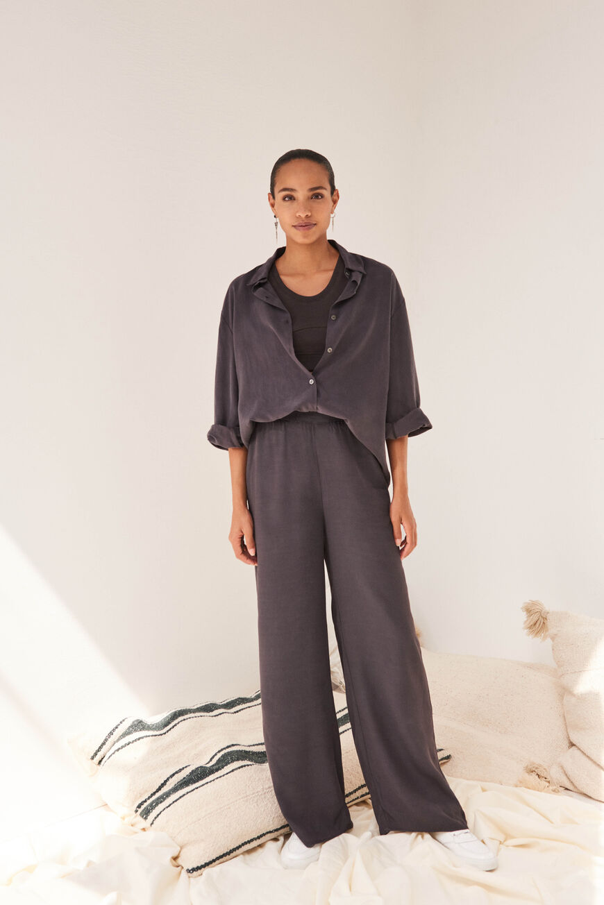 TROUSERS TOSCANE TROUSERS REGLISSE
