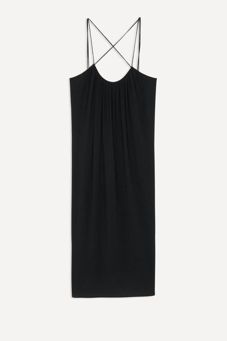 DRESS FENELOPE MIDI DRESSES NOIR