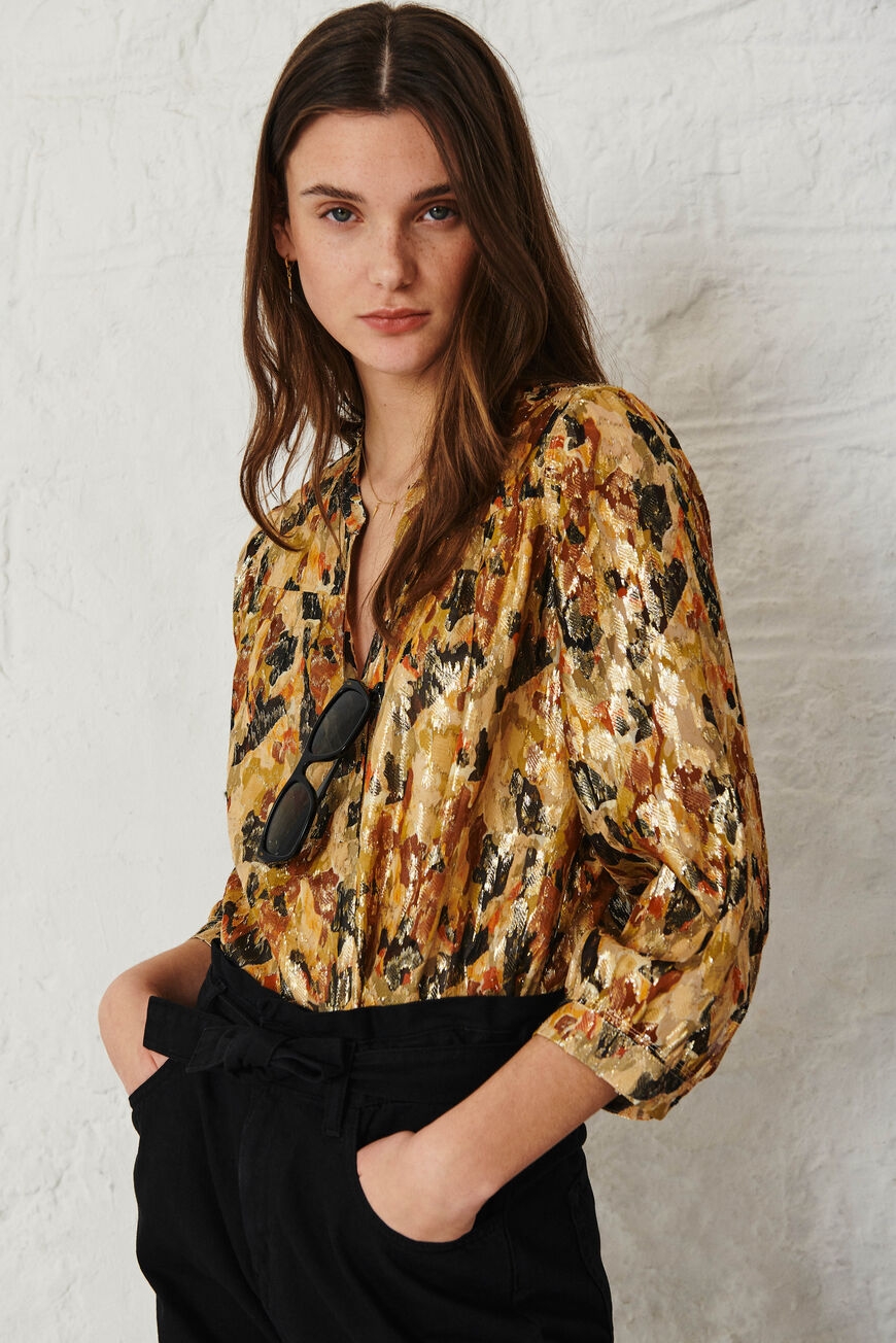 BLOUSE GABY TOPS & SHIRTS OCRE