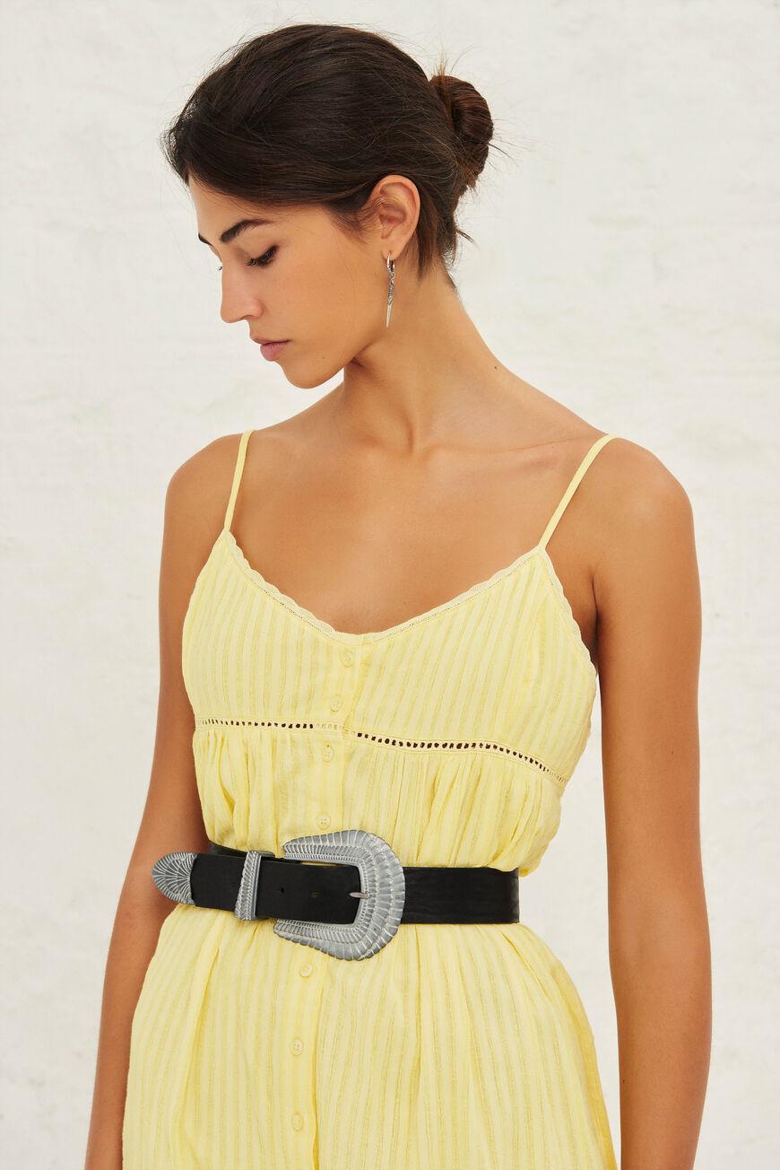 DRESS ULLY MAXI DRESSES JAUNE