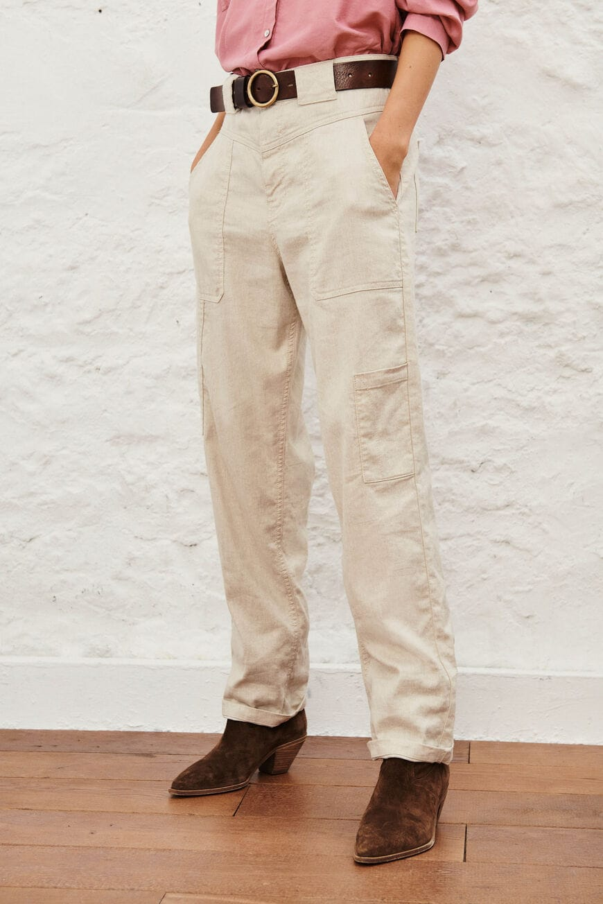 PANTALON CURIOUS vaqueros NATUREL