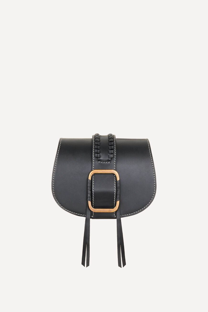 TEDDY S LEATHER BAG CROSSBODY BAGS NOIR
