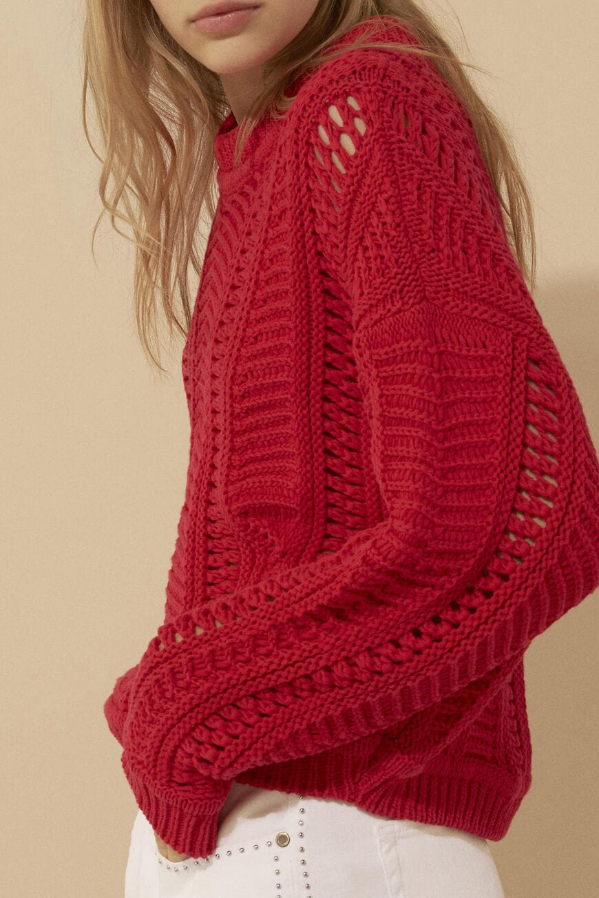 SWEATER GRAMY JUMPERS & CARDIGANS ROUGE
