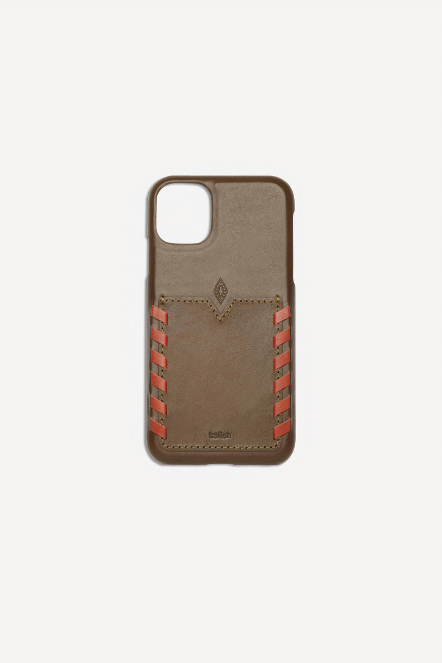 CALFSKIN IPHONE CASE SMALL ACCESSORIES KAKI
