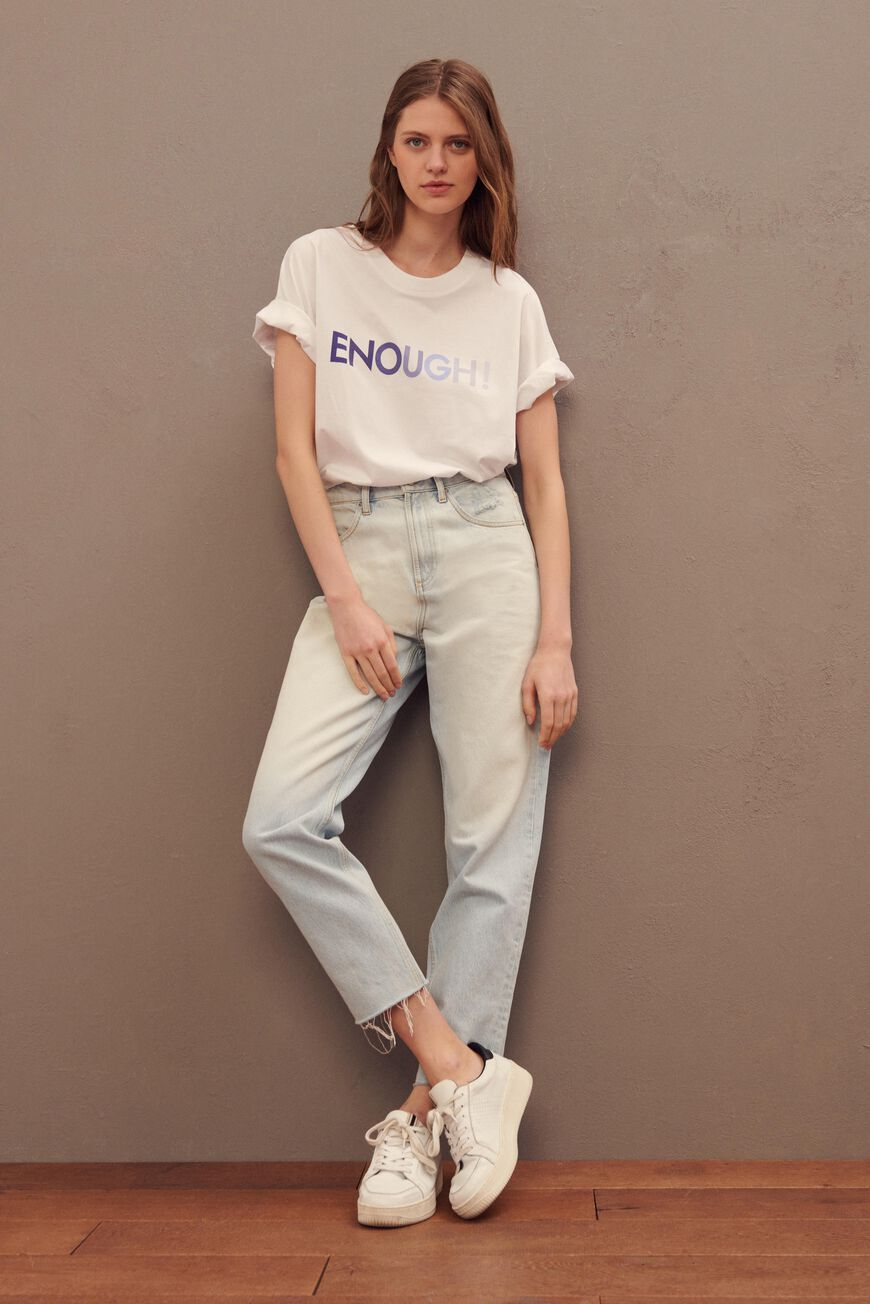 ENOUGH TSHIRT T-SHIRTS BLANC