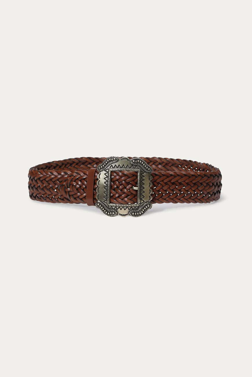 CEINTURE BRAID CEINTURES MARRON