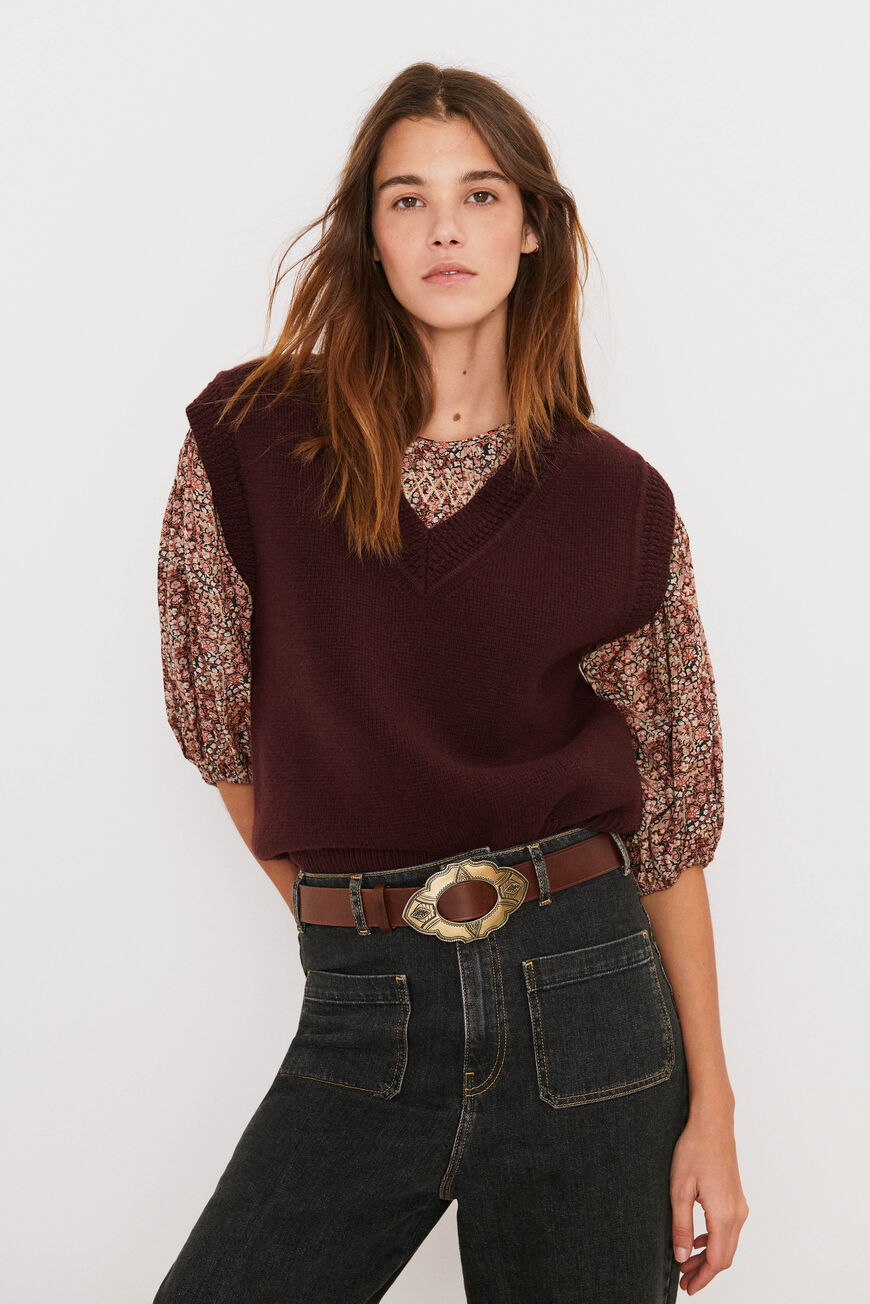 PULL POMME JUMPERS AUBERGINE
