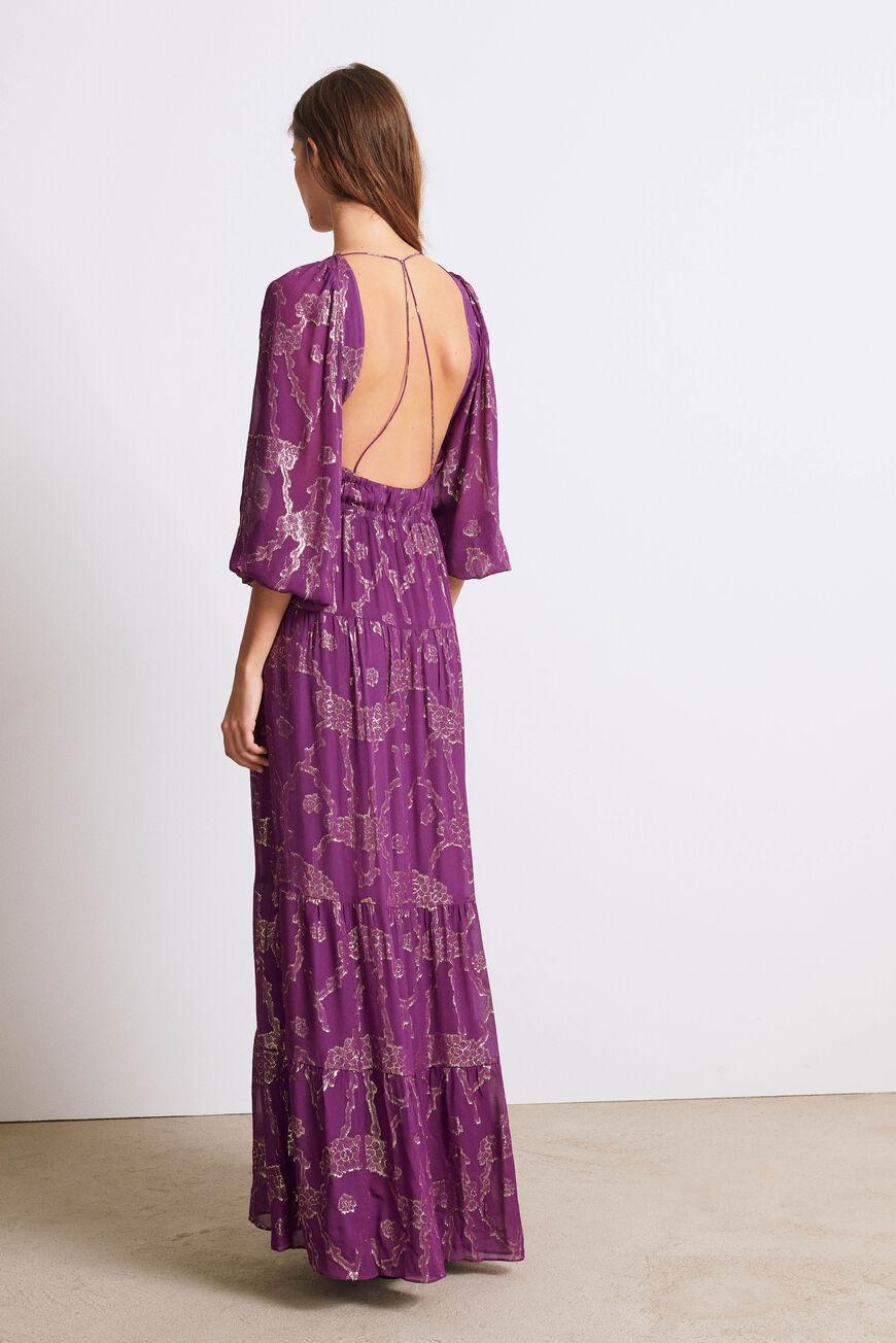 DRESS DINA MAXI DRESSES VIOLET BA&SH