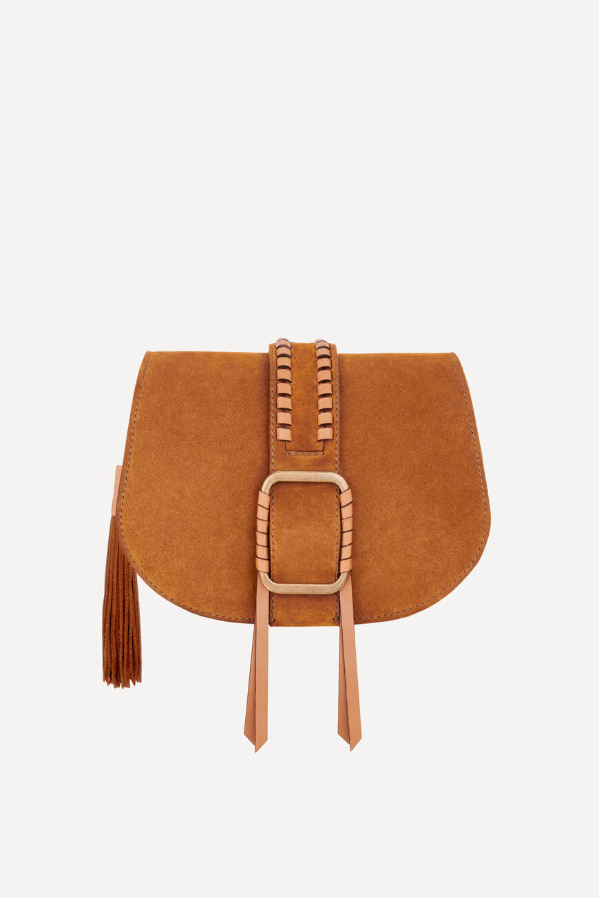 TEDDY M SUEDE BAG TEDDY BAGS COGNAC