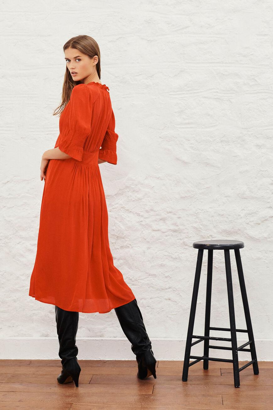 DRESS POSITA MIDI DRESSES ROUGE BA&SH