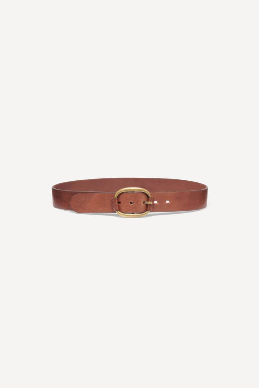 BELT BARLONE LEATHER MARRON