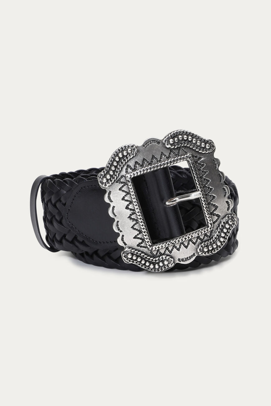 BRAID BELT Main NOIR