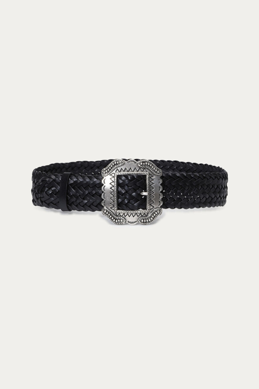 BRAID BELT BELTS NOIR