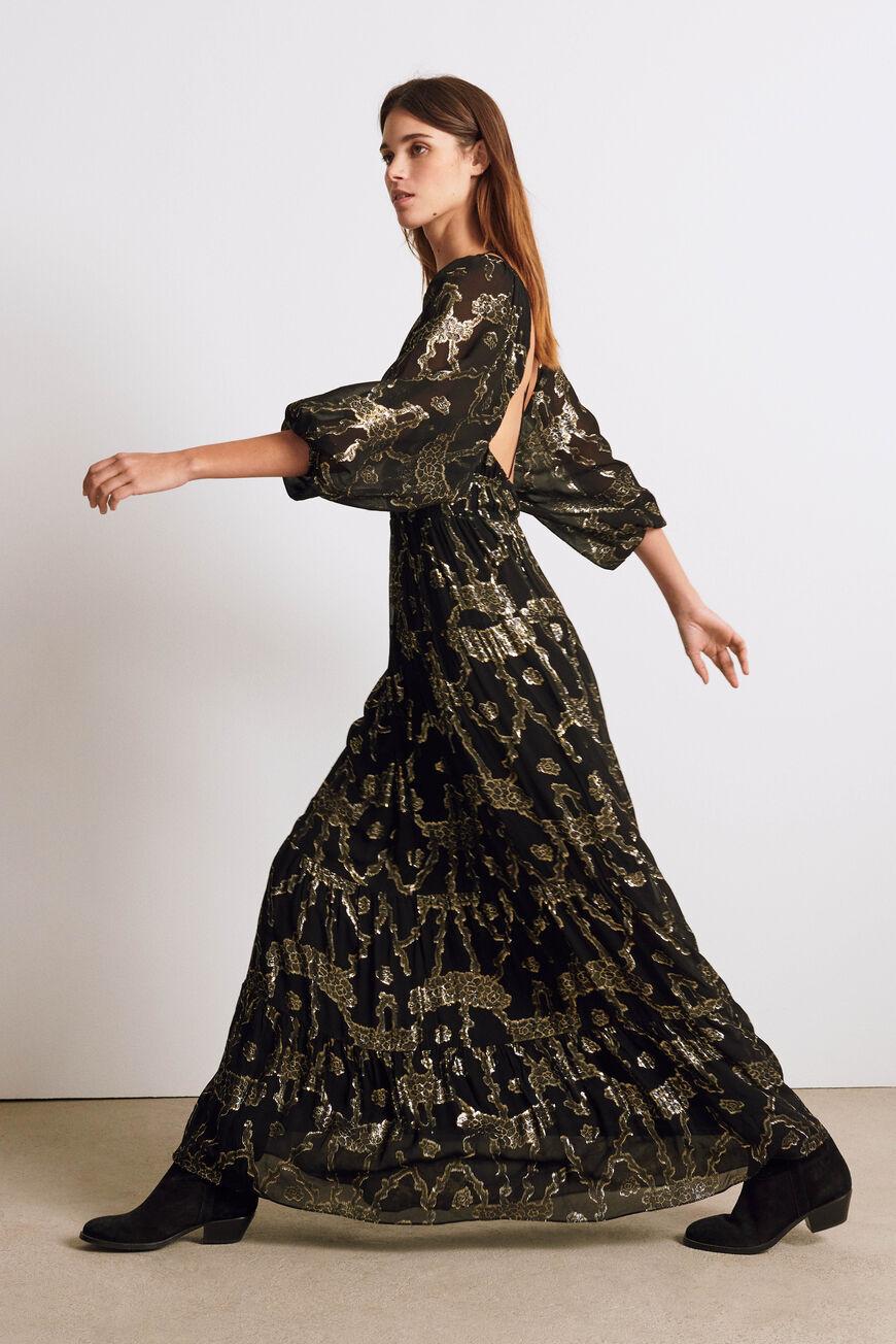 DRESS DINA MAXI DRESSES NOIR BA&SH