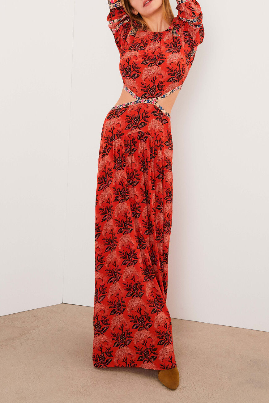 DRESS GABRIEL MAXI DRESSES ORANGE