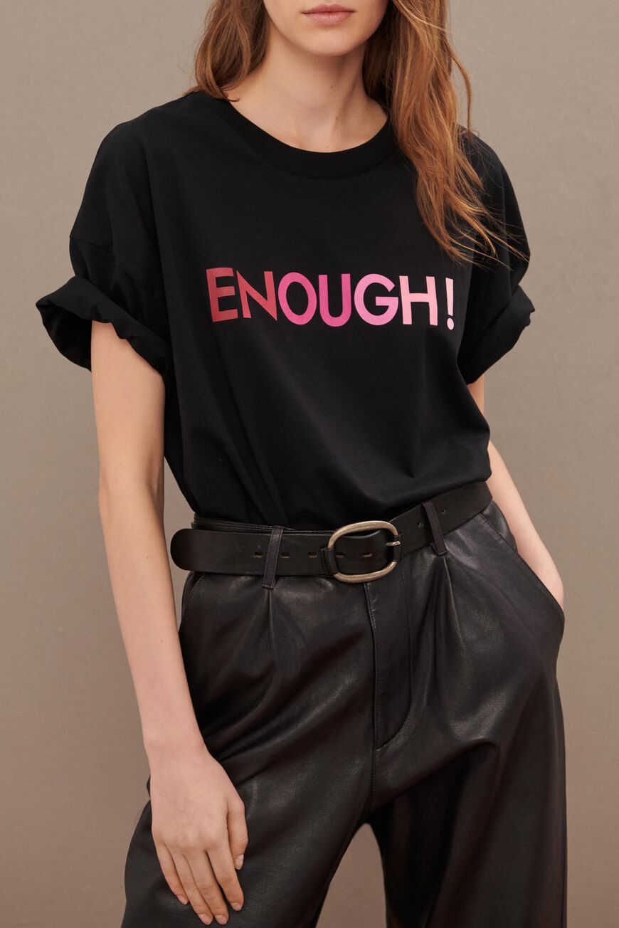 ENOUGH TSHIRT T-SHIRTS NOIR BA&SH