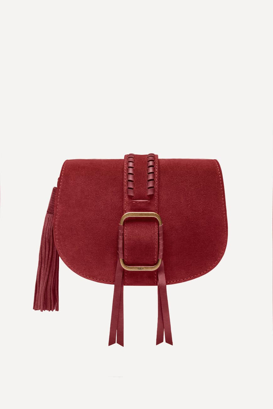 TAS TEDDY CROSSBODY BAGS BORDEAUX