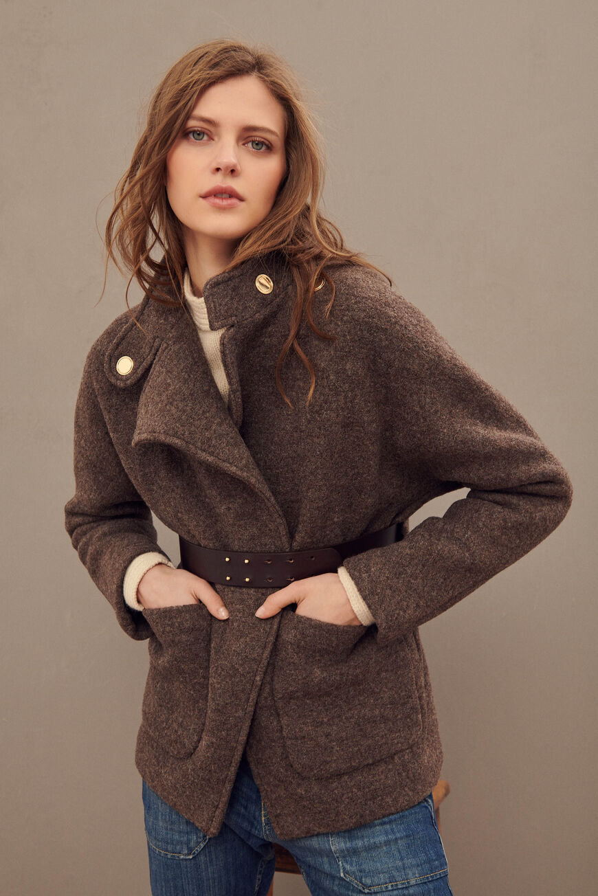 CALVI COAT COATS MARRON
