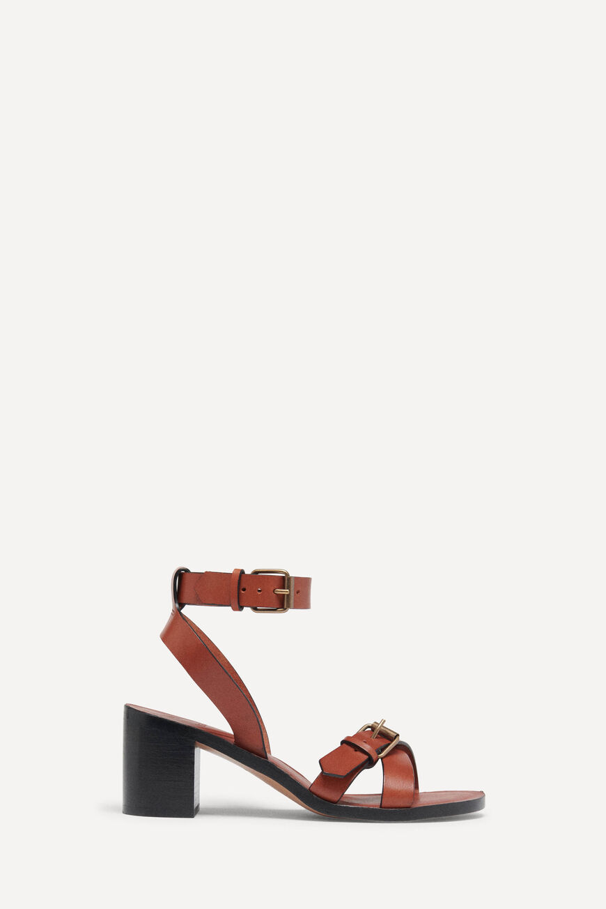 SANDALETTEN CATHALYA PUMPS AND SANDALS COGNAC