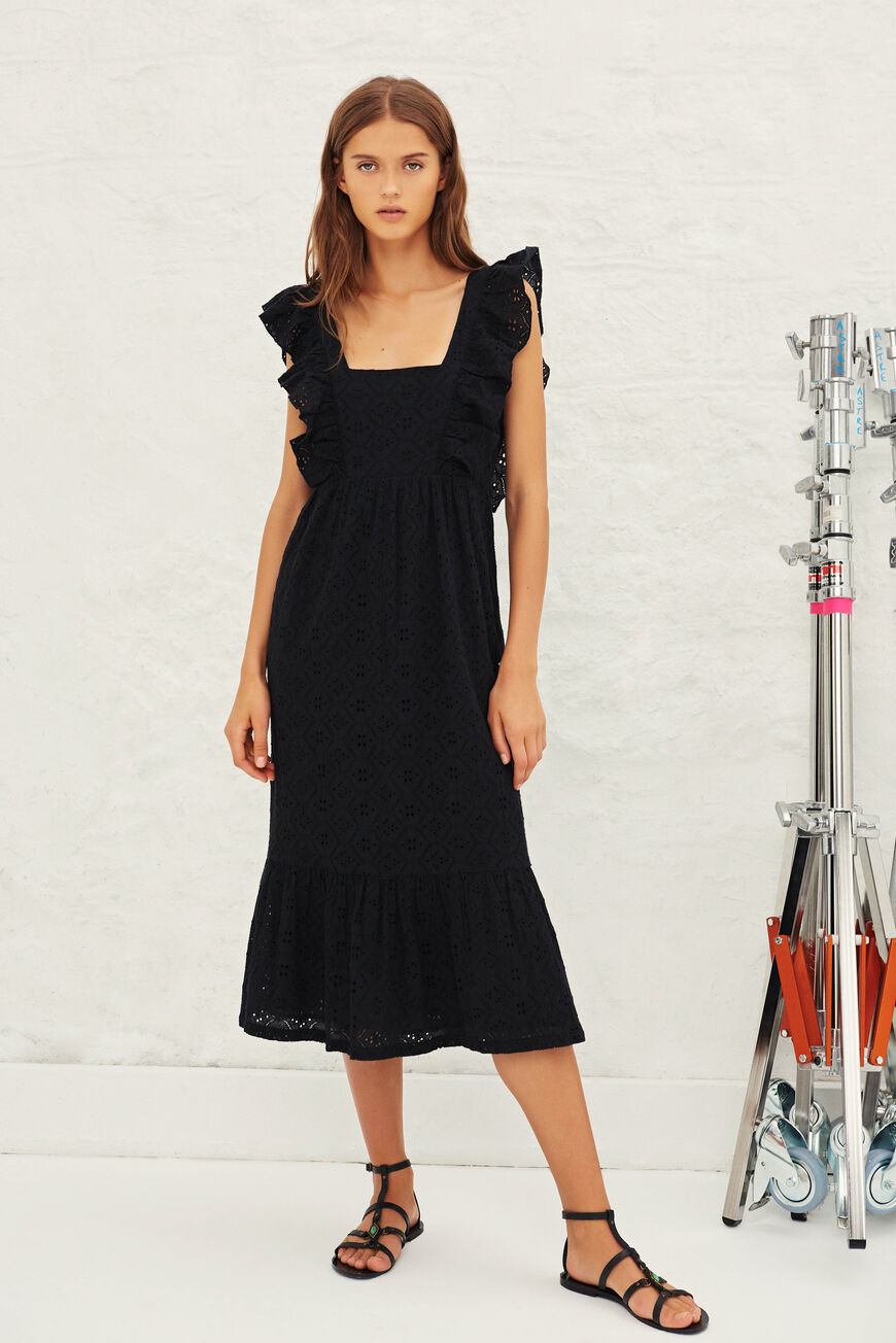 ROBE BYRD ROBES MIDI NOIR