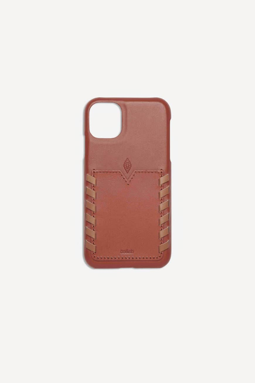 CALFSKIN IPHONE CASE SMALL ACCESSORIES TAN