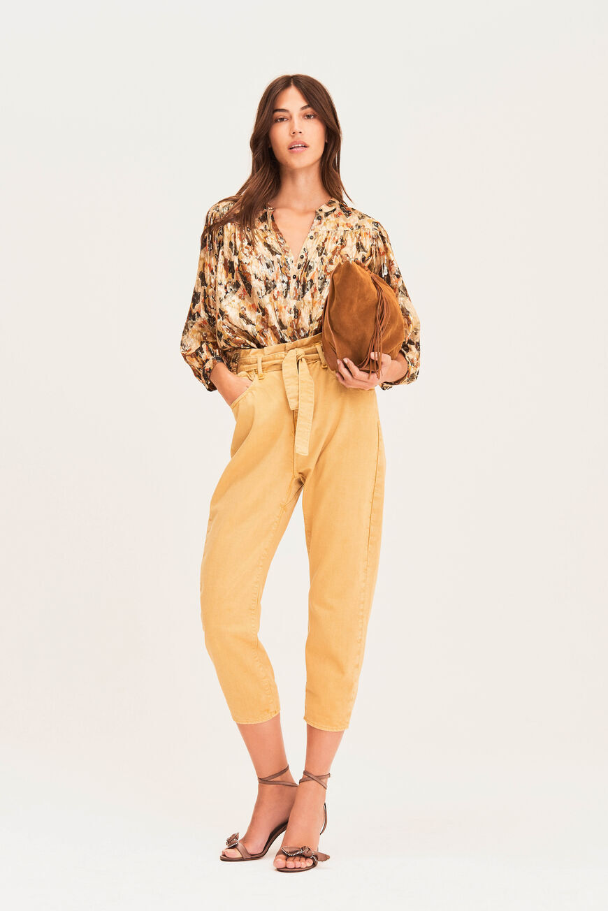 TROUSERS JALIA TROUSERS JAUNE