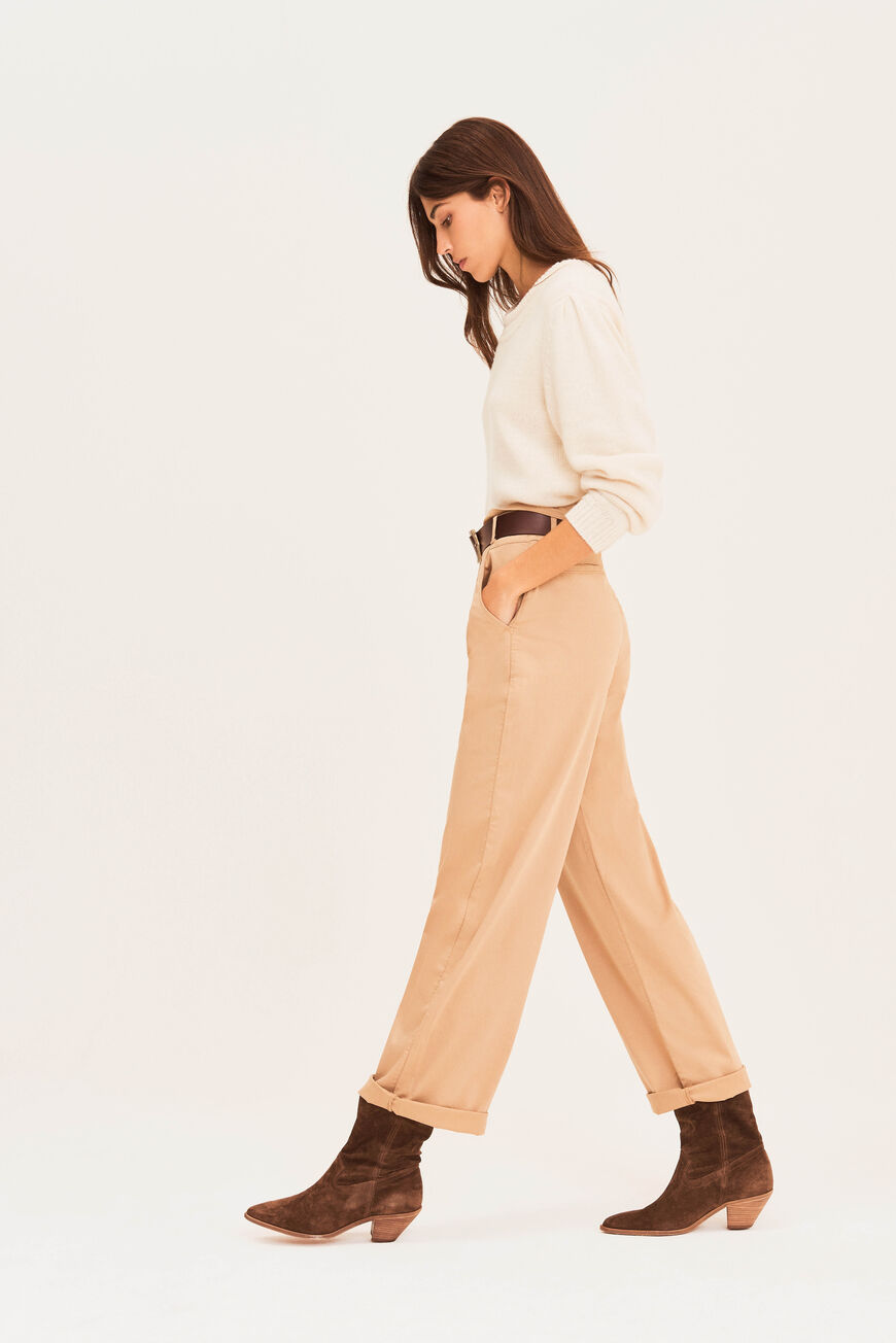 TROUSERS BOY TROUSERS BEIGE