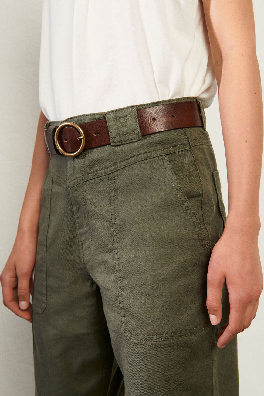 CAMUS BELT LEATHER MARRON