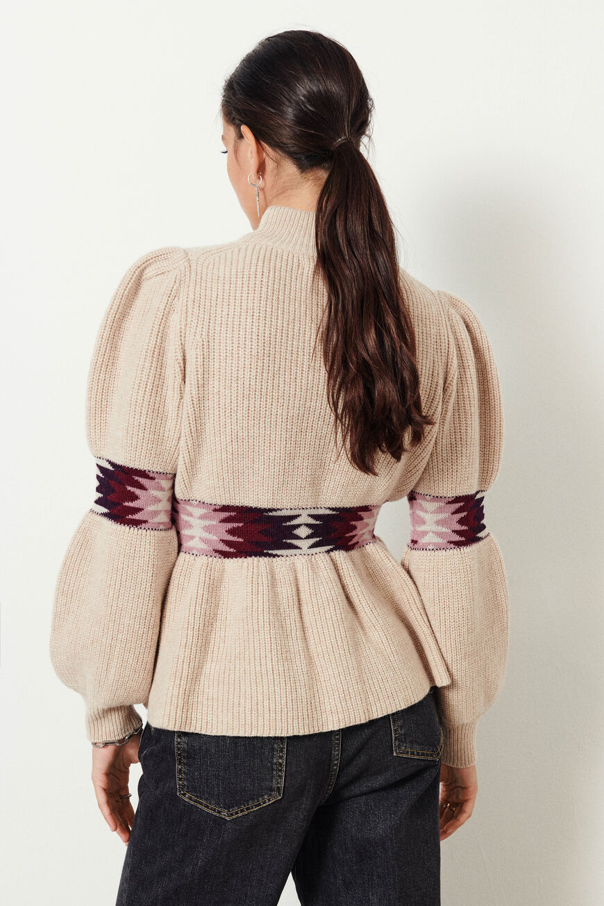 PULL OCTAVE MAILLES BEIGECHINE BA&SH