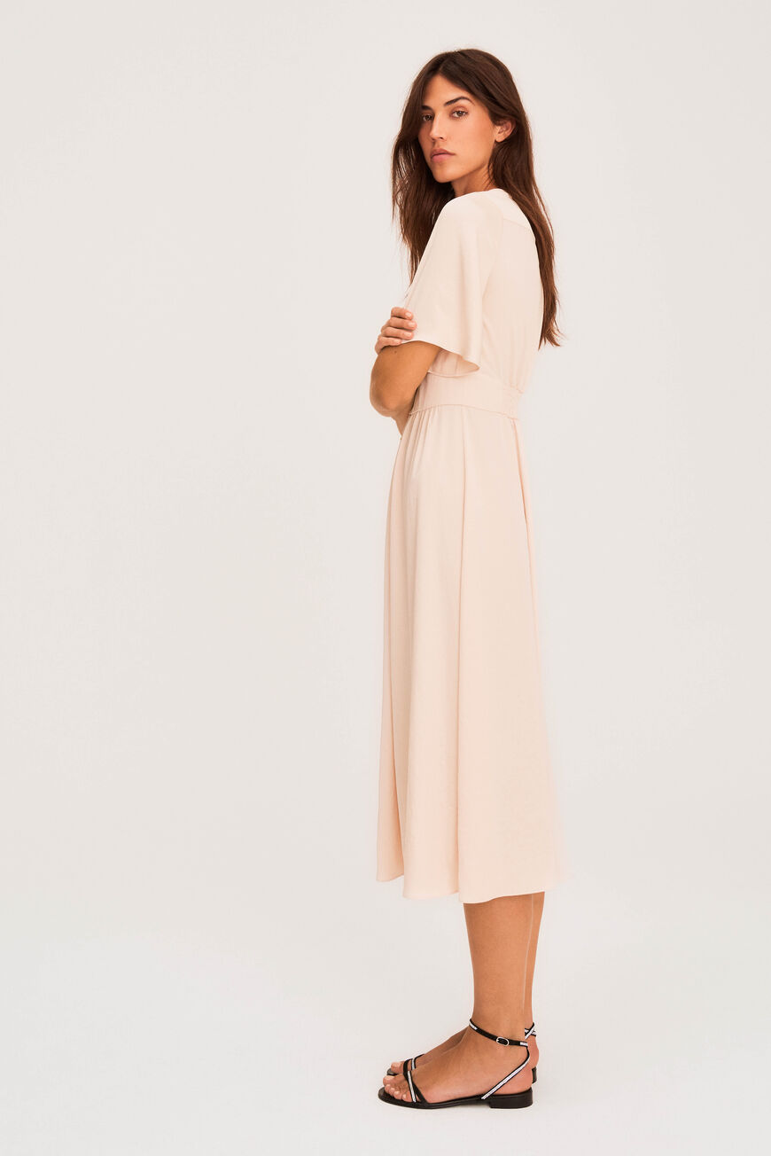 PAMELA DRESS MIDI DRESSES CHAMPAGNE