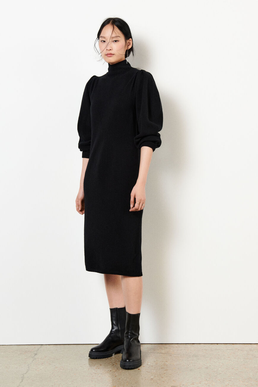 DRESS FELICITY MIDI DRESSES NOIR BA&SH