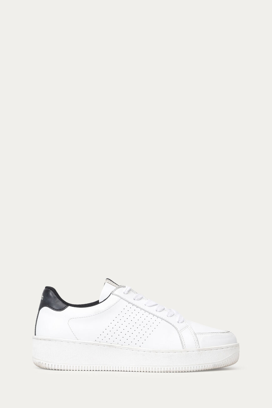 TURNSCHUHE CUBA LEATHER BLANC