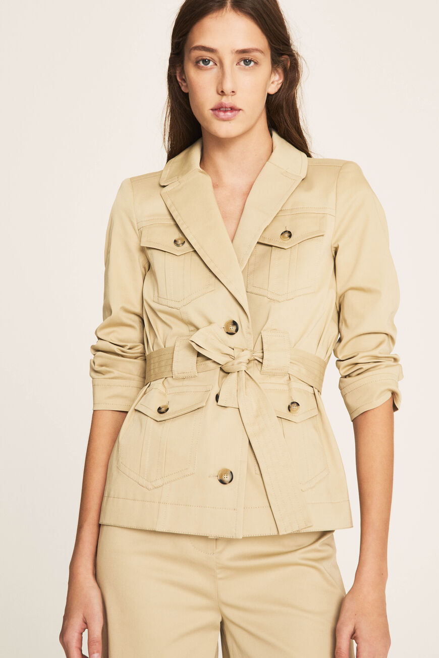 JACKET MUSE JACKETS & COATS BEIGE
