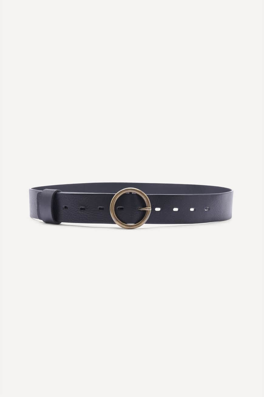 BELT CAMUS LEATHER NOIR