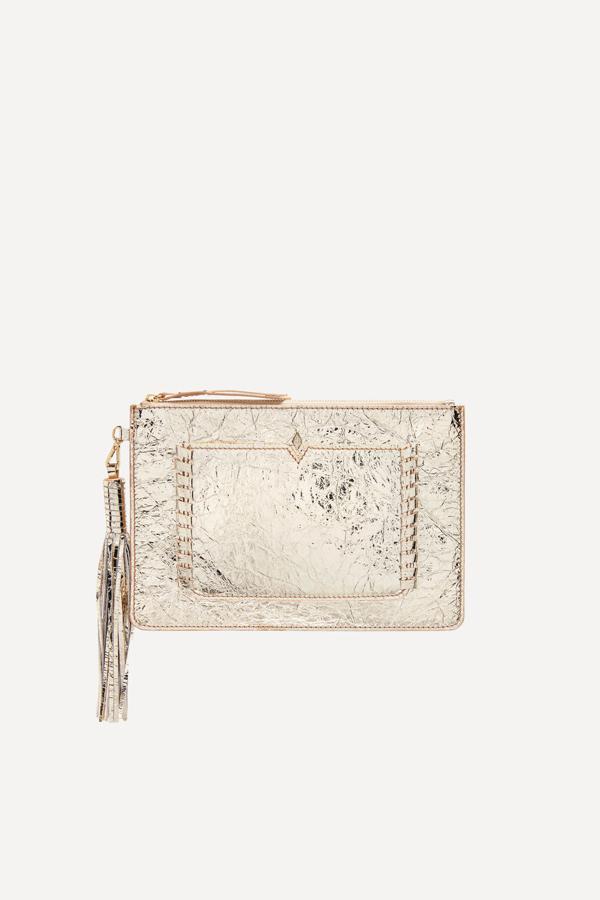 CLUTCH TEDDY SMALL LEATHER GOODS GOLD