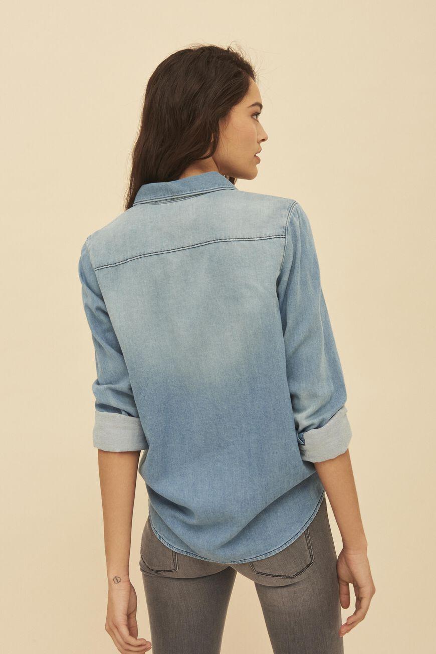 chemise sol lightusedblue ba sh