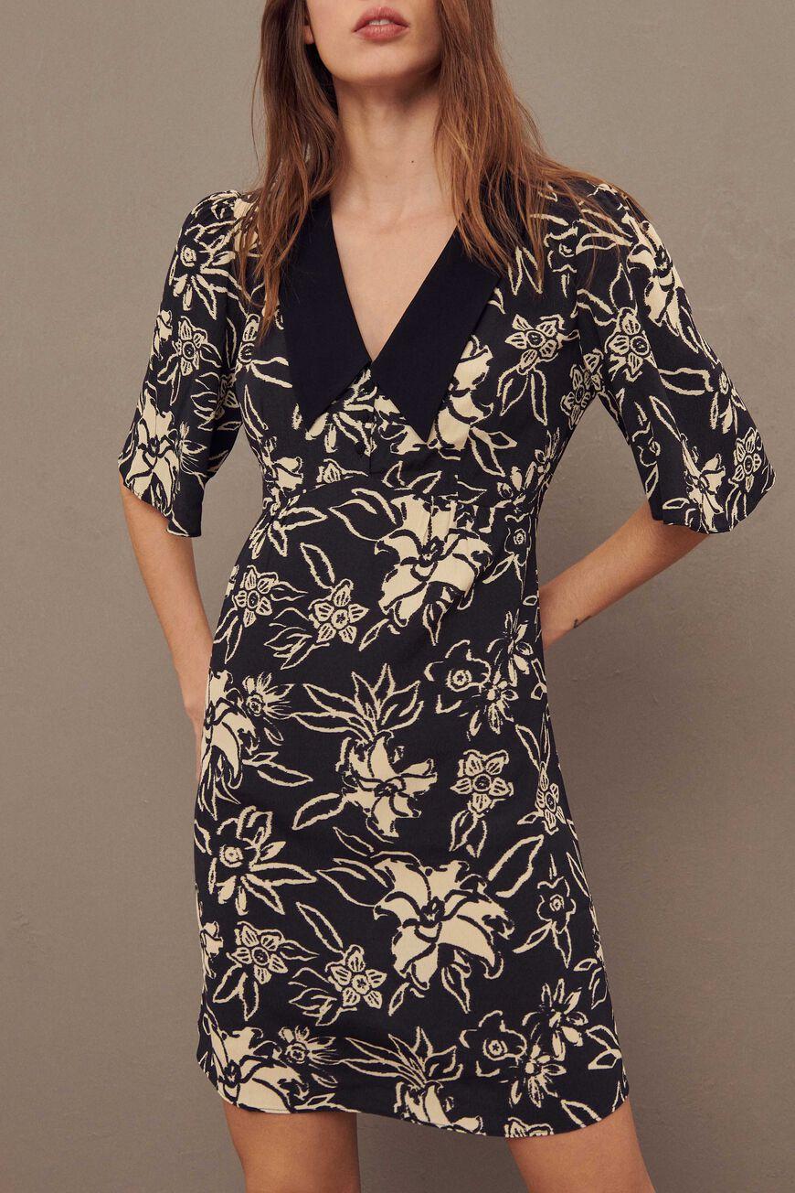 DRESS SEYTON MINI DRESSES NOIR BA&SH