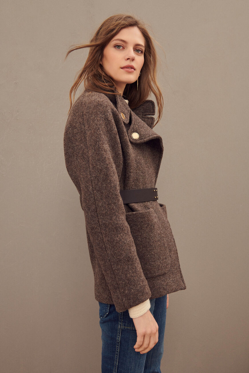 CALVI COAT -50% off MARRON