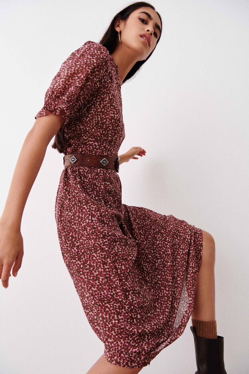 DRESS PALLY MAXI DRESSES FRAMBOISE BA&SH