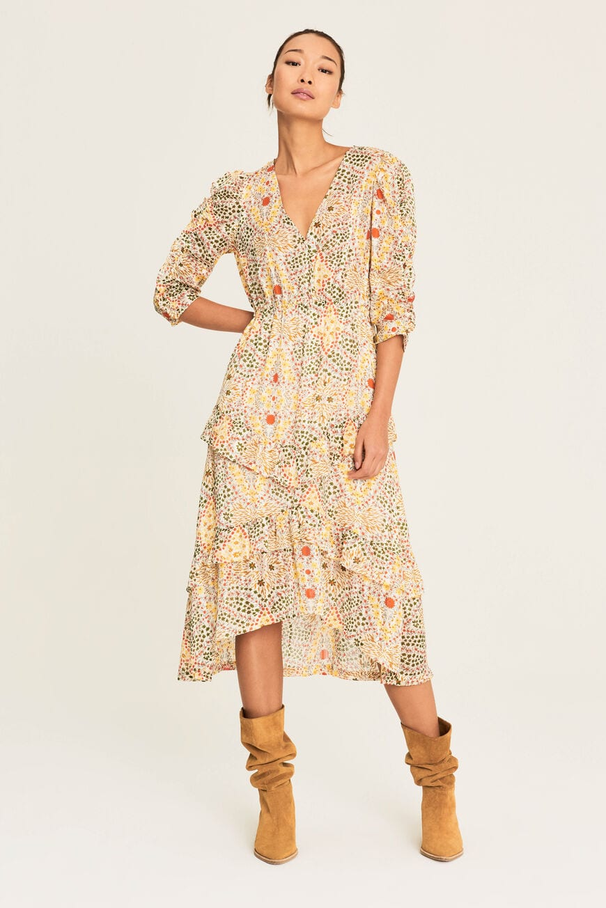 DRESS HAPPY MIDI DRESSES
