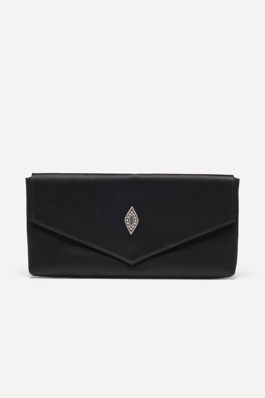 ENVELOPE CLUTCH TEDDY CLUTCH BAGS NOIR