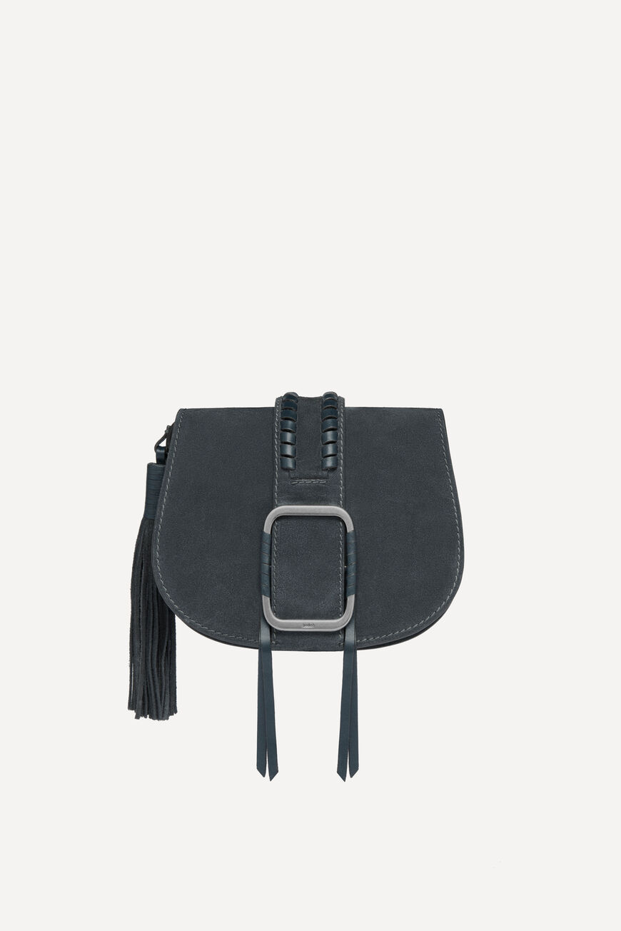 TEDDY S SUEDE BAG CROSSBODY BAGS CARBONE