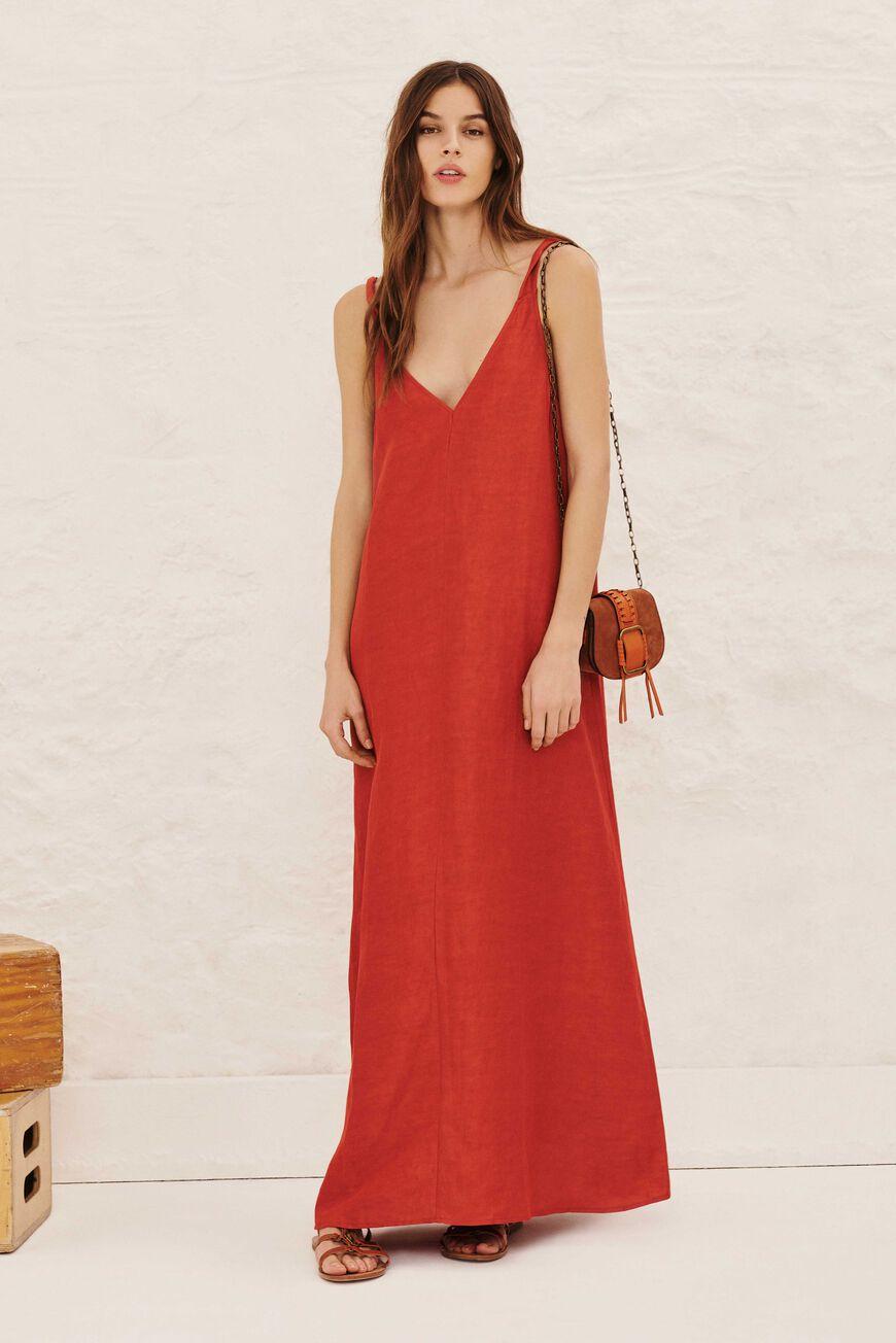 DRESS POLLY MAXI DRESSES PRUNE BA&SH